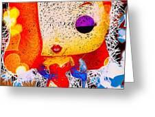 Jessica Rabbit Pop Greeting Card by Al Matra