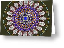Jesus The King Of Kings Mandala Greeting Card by Catherine Lott