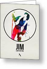 Jim Watercolor Poster Greeting Card