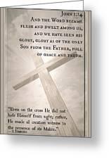 John 1 14 Greeting Card