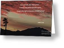 John 12 Greeting Card