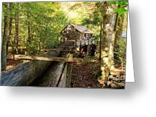 John Cable Mill In Cades Cove Historic Area In The Smoky Mountains Greeting Card