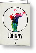 Johnny Cash Watercolor Greeting Card