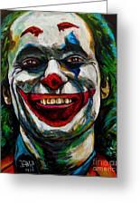 Joker Joaquin Phoenix Greeting Card