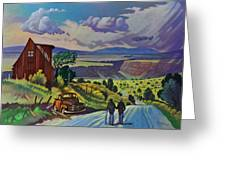 Journey Along The Road To Infinity Greeting Card