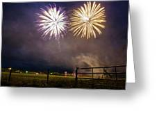 July 4 In Rural America  Greeting Card by Mary Lee Dereske