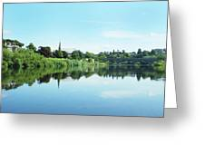 Junction Pool And View Of Tweed At Kelso Greeting Card
