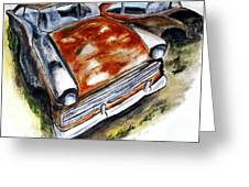 Junk Car No.10 Greeting Card by Clyde J Kell