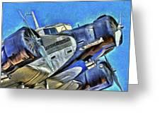 Junkers Ju 52 Art Greeting Card