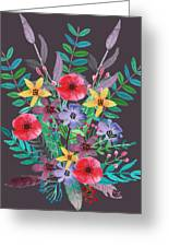 Just Flora II Greeting Card