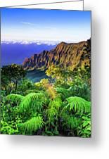Kalalau Valley And The Na Pali Coast Greeting Card