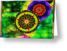 Kaleidoscope Moon For Children Gone To Soon Number - 3 Intensified  Greeting Card