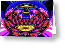 Kaleidoscopic Krystal Ball Greeting Card