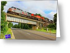 Kansas City Southern In South Carolina Greeting Card