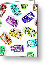 Karting Patterns Greeting Card