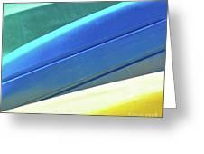 Kayak Angles And Colors Abstract II Greeting Card