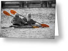 Kayaking Along The Magothy Greeting Card