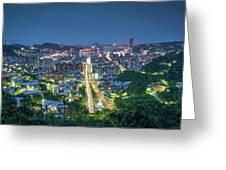 Keelung City Skyline Greeting Card
