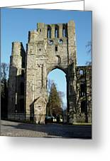 Kelso Abbey Ruin Greeting Card