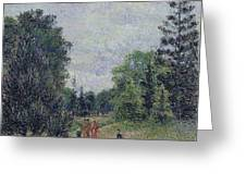 Kew Gardens, Crossroads Near The Pond, 1892 Greeting Card