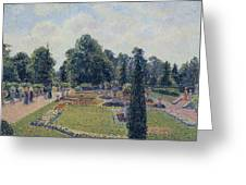 Kew Gardens - Path Between The Pond And The Palm House, 1892 Greeting Card