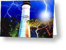 Key West Lightning Light House Greeting Card