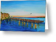 Key West Sunset Pier Tiki Bar At Sunset Painting By
