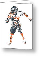 Khalil Mack Chicago Bears Pixel Art 1 Greeting Card