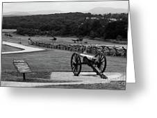 King William Artillery Marker In Black And White Gettysburg Greeting Card