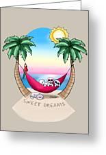 Kiniart Tropical Bichon Frise Greeting Card