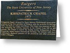 Kirkpatrick Chapel - Commemorative Plaque Greeting Card
