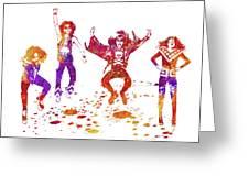 Kiss Band Watercolor Splatter 01 Greeting Card
