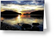 Kiss Of Sunset Greeting Card