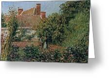 Kitchen Garden In Eragny, Afternoon, 1901 Greeting Card