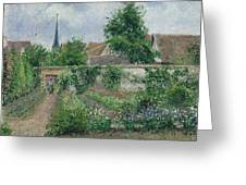 Kitchen Garden, Overcast Morning, Eragny, 1891  Greeting Card