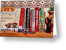Kuji's Bookshelf Greeting Card