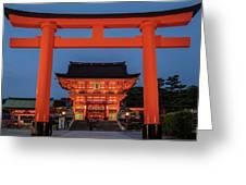 Kyoto Torii Gate Greeting Card