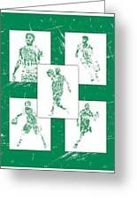 Kyrie Irving Boston Celtics Panel Pixel Art 1 Greeting Card