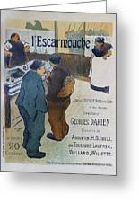 L Escarmouche, 1893 French Vintage Poster Greeting Card