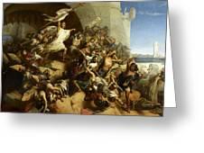 La Defense De L'ile De Rhodes Par Foulques De Villaret Greeting Card