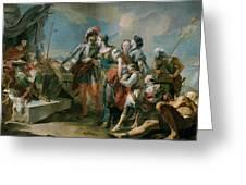 La Reina Zenobia Ante El Emperador Aureliano   Greeting Card