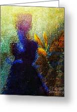 Lady In The Garden Greeting Card