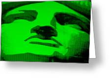 Lady Liberty In Green Greeting Card