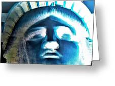 Lady Liberty In Negative Greeting Card