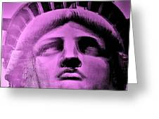 Lady Liberty In Pink Greeting Card