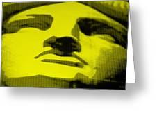 Lady Liberty In Yellow Greeting Card