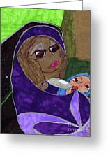 Lady With Child Greeting Card