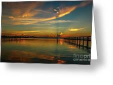 Lagoon Sunbeam Sunrise Greeting Card