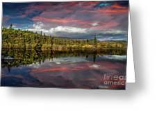 Lake Bodgynydd Sunset Greeting Card