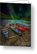 lake Geirionydd Canoes Greeting Card